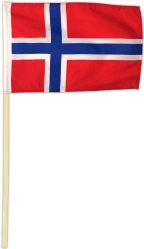 Fahne Flagge Norwegen 30 x 45 cm mit Stab