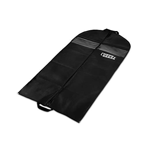 Luguxe® Kleidersack Schwarz -120x60 cm -extra hochwertiger Vliesstoff aus (125 GSM) - Anti-Mottenschutz - Keine Angst vor Motten, Dreck und Staub - Lange Lebensdauer und sicherer Transport