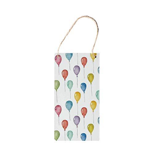 HNNT Kleurrijke Decoratieve Hanging Houten Borden, Kleurrijke Ballonnen Verjaardag Feest Thema Celebration Festival Surprise Event Patroon voor houten bord 5x10 inch