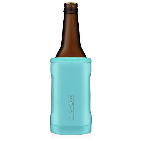 BrüMate Hopsulator BOTT'L Double-walled Stainless Steel Insulated Bottle Cooler for 12 Oz Bottles (Aqua)
