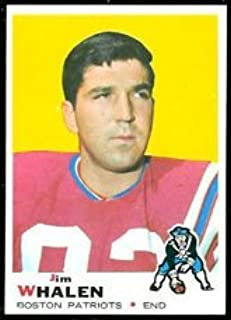 1969 Topps Regular (Football) Card# 203 Jim Whalen of the Boston Patriots ExMt Condition