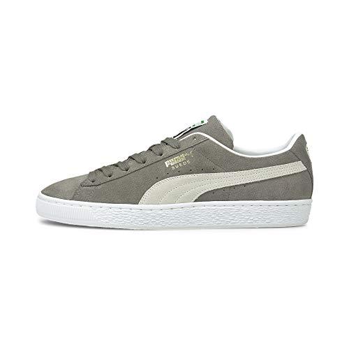 PUMA Suede Classic XXI Sneaker Steel Gray-Puma White 10.5
