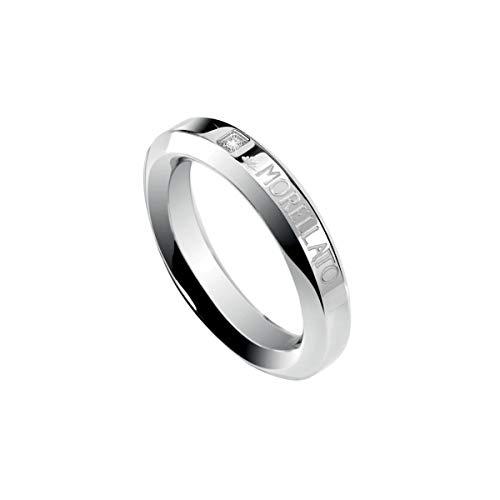 Morellato - Anillo de Acero con Diamante, Talla 16 (17,84 mm)