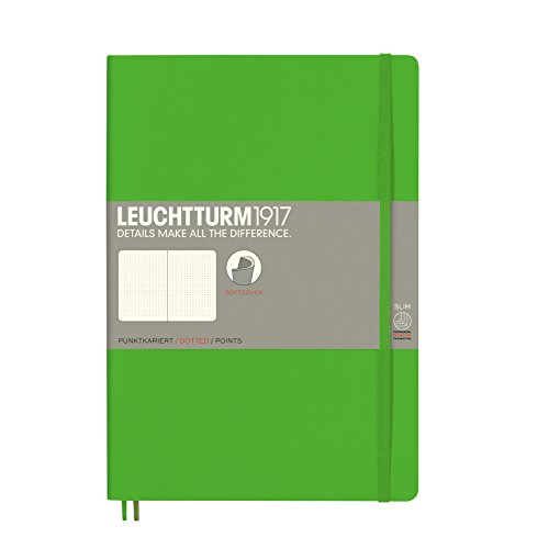 Leuchtturm1917, taccuino, copertina morbida A puntini Composition (B5) verde fresh green