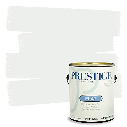 Prestige Interior Paint and Primer In One, 1-Gallon, Flat, White