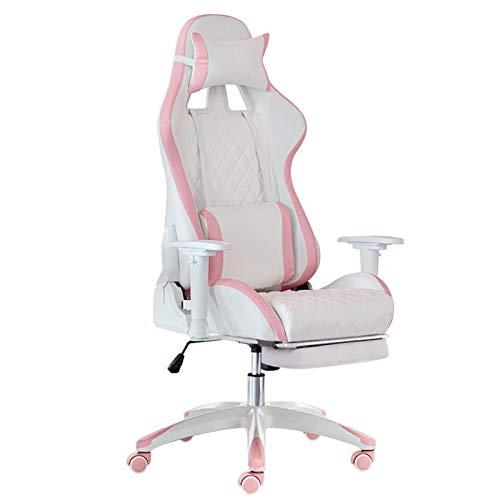 Silla de oficina de escritorio, silla de oficina, cómoda silla ergonómica de ordenador con soporte lumbar y reposabrazos para dormitorio, silla de juegos, silla de trabajo (color: B, tamaño: con pies)