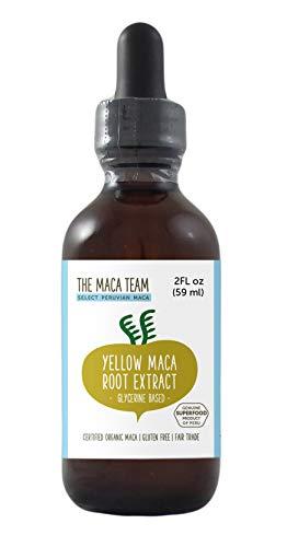 Extracto de Maca Amarilla Líquida BIO, 59 ml, libre de alcohol, comercio Justo, elaborado a partir de Raices de Maca orgánica amarilla cultivada en Perú de forma tradicional, sin Gluten y Vegana.