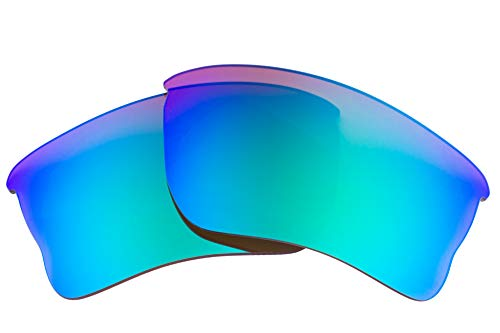 LenzFlip lenses Compatible with Oakley Quarter Jacket Polarized Replacement lenses :: Brown Polarized with Green Mirror