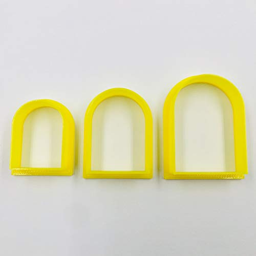 Set of 3 Arch Clay Cutter Set, Cookie Cutter, 3D Polymer Clay Cutter