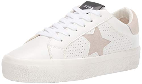 Steve Madden Women's Starling Sneaker, White Multi, 8.5 M US