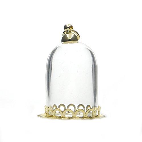 Cilindro de vidrio AngelaKerry memoria Locket colgante globo boca ancha apertura botella vacía del encanto