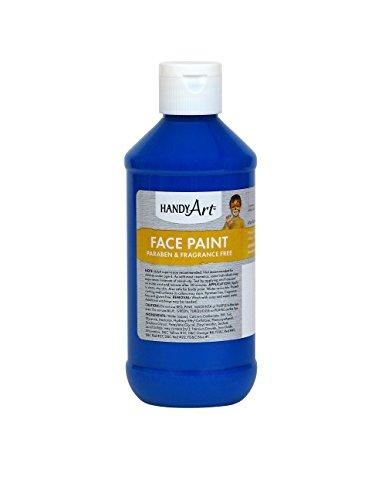 Handy Art Face Paint, Blue, 8-Ounce