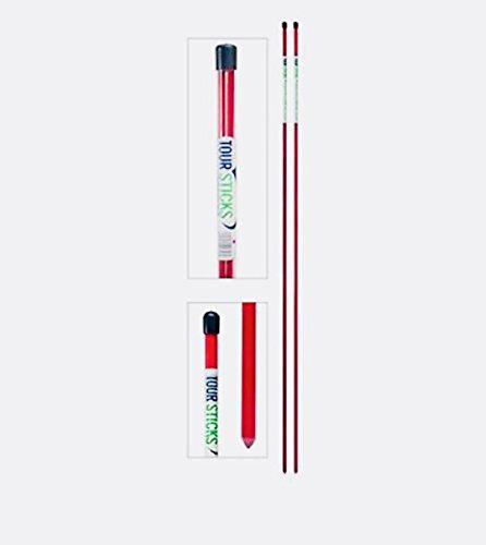 Golf PRO Sticks PGA Teaching Tool Alignment PRO Sticks (RED)