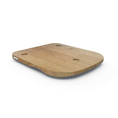 ThermoSlider H V2 Gleitbrett aus Holz Eiche für Thermomix TM6 & TM5 - Massivholz aus nachhaltiger deutscher Forstwirtschaft