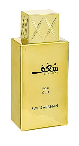 Shaghaf Oud, Eau de Parfum 75mL | Mouthwatering Gourmand (Sweet) Oud and Saffron Fragrance | Long Lasting with Intense Sillage | Cologne for Men and Perfume for Women | by Oudh Artisan Swiss Arabian