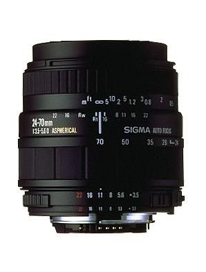 Sigma 24-70/3,5-5,6 aspherical HF Objektiv für Sigma