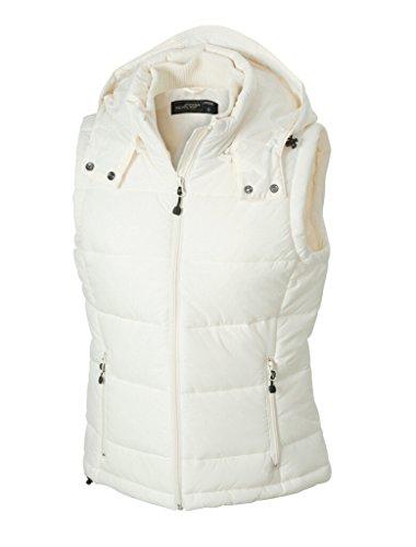 James & Nicholson Moderno chaleco acolchado con capucha extraíble. natural S