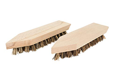 TIMELEOS Schmutzbürste aus Naturhaar für optimale Schuhpflege Glanzbürste Schuhputzbürste Schuhputzzeug Schuhpolierbürste Polierbürste Kleiderbürste Reinigungsbürste (2 Bürsten hell)
