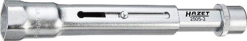 Hazet 2505-2 Chiave per Candele di Accensione, Argento, Attacco Quadro, Cavo, 10 mm 3/8 di Pollice