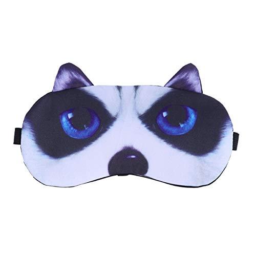 HEALLILY Augenklappe Eisbeutel Cartoon Augenmaske Eiskompresse Augenblinder für Home Travel Office 1Pc (Grelle Huskys)
