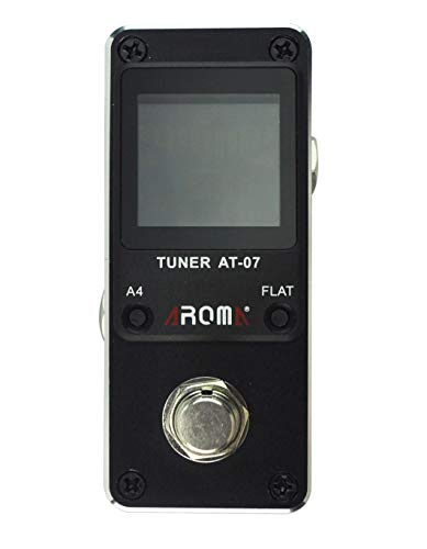 Aroma Guitar Tuner Pedal Chromatic for Guitar (6-7 strings) and Bass (4-6 strings) High Definition Color Screen Pitch 430-450Hz 4 Flat Options True Bypass Nano Size (pedal tuner) …