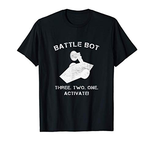 Mens Robot Combat Fighting Battle Bot Three Two One Activate T-Shirt