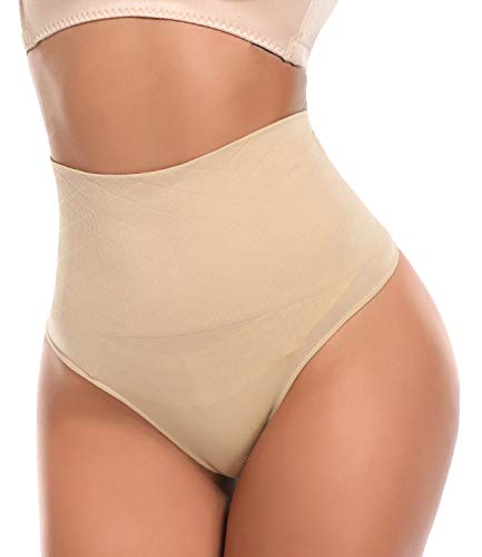 SLIMBELLE Fajas Tanga Invisible Braguita Moldeadora Thong Cintura Media para Mujer String Reductora sin Costuras Adelgazante Abdomen Elástico Shaping Lenceria-S