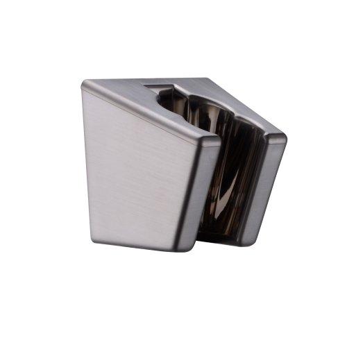 KES Handheld Shower Head Holder Bracket Wall Mount for Bathroom Hand Sprayer Wand or Toilet Hand Held Bidet Spray ABS Plastic Brushed Nickel, C102-2