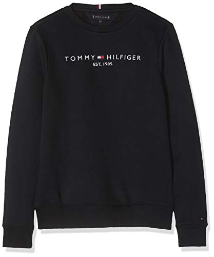 Tommy Hilfiger Essential CN Sweatshirt Set 1 Sudadera para Niños, Color Tommy Black, 8