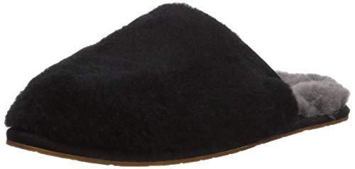 UGG Women's FLUFFETTE Slipper, BLACK, 8 M US