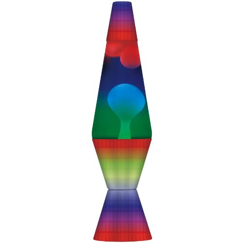 Lava the Original Colormax Lamp with Rainbow Decal Base, 14.5