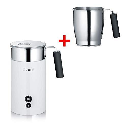 GRAEF Milchaufschäumer MS 721 TWIN (MS 701 + 2. Milchkännchen), weiß
