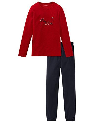 Schiesser Mädchen Anzug lang Zweiteiliger Schlafanzug, Rot (Rot 500), (Herstellergröße: 140)