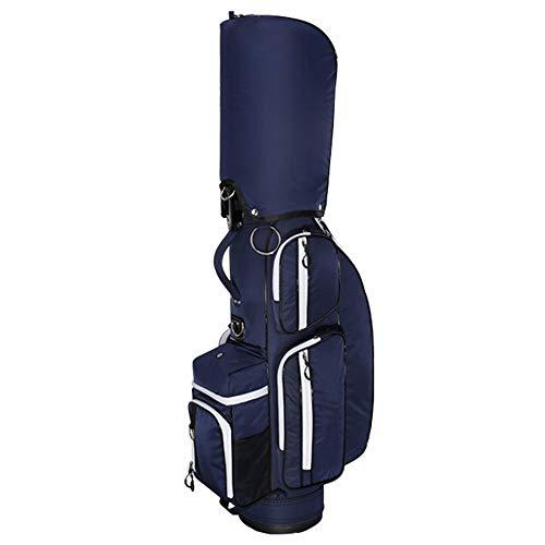 MäNner en vrouwen golfclubtas, 5-gescheiden kan 13 clubs houden golfclubtas, nylon golfclubs tassen ultraportability blue + white
