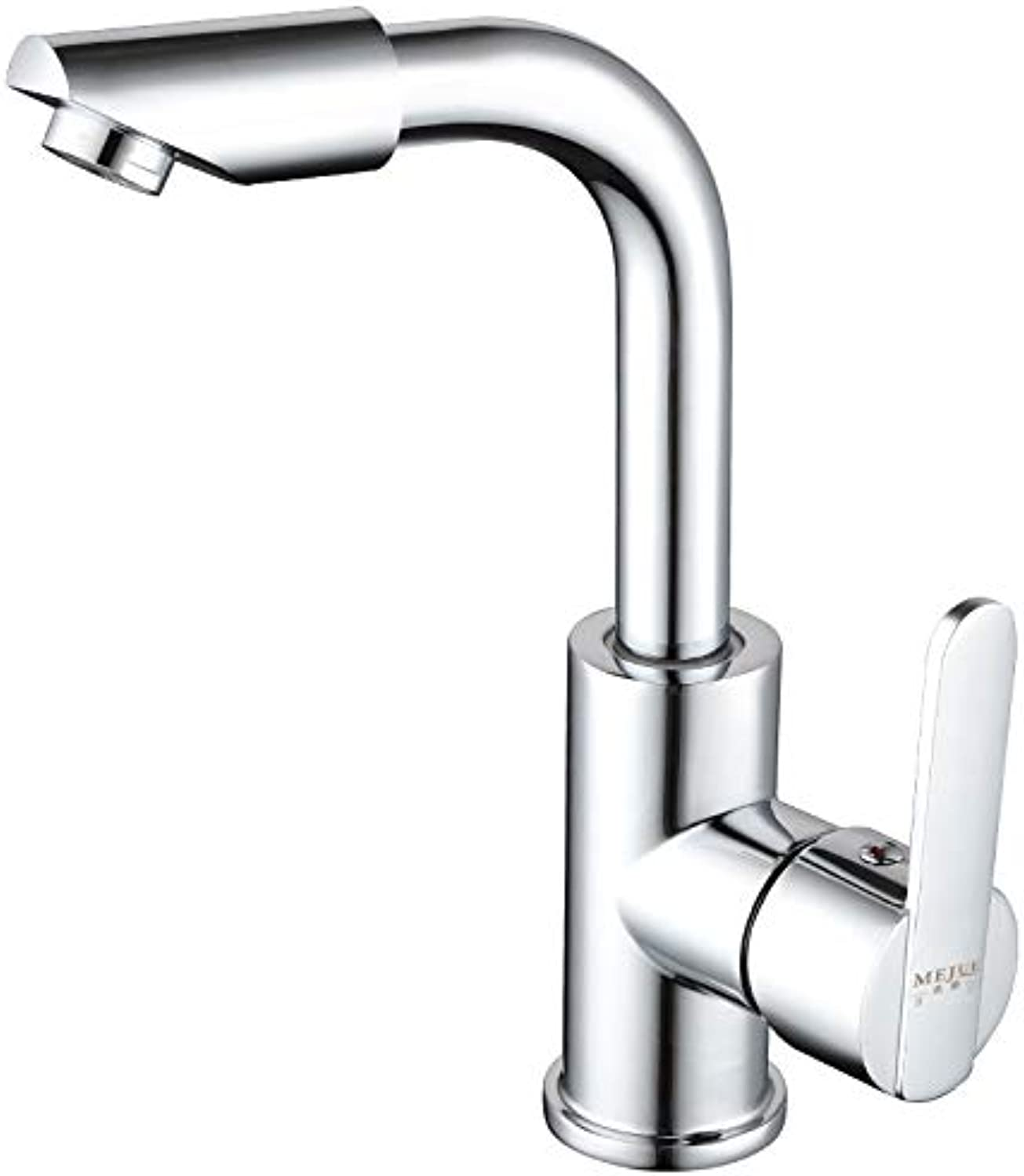 ROKTONG Seafood Scissors Sink Taps Filter Taps 360 Degree redating Single Hole Copper Hot And Cold Basin Mixer