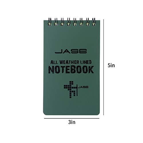 Cosmos Set of 5 Green Waterproof/All Weather/Shower/Aqua Notes/Notepad/Notebook with Cosmos Fastening Strap