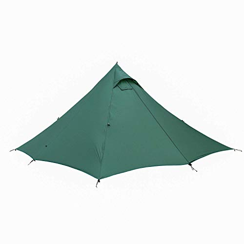 Tactical Gear Wild Haven Ultralight Backpacking Hot Tent for Double, Black Orca Series