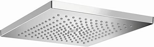 hansgrohe Raindance E 12-inch Showerhead Low Flow Modern 1-Spray Rain Water Saving with QuickClean in Chrome, 26240001