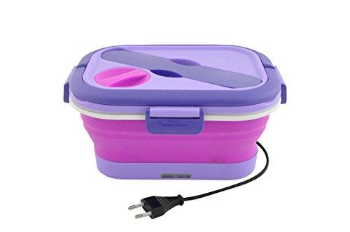 Cécoa - Scatola porta pranzo pieghevole riscaldante Violet