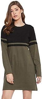 The Dry State Women Multi Coloured Dress WDRE_593B_1799_S Olive-Black