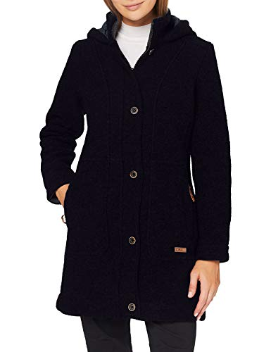 CMP Chaqueta Wooltech con capucha, Mujer, Chaqueta, 30M3386, negro y azul, 42