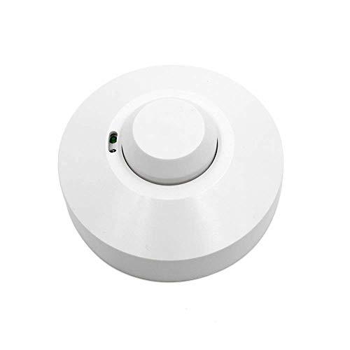 RUISI Motion Sensor Detector Light Switch Outdoor/Indoor/Corridor/Pathway Microwave Radar Sensor Switch Power-Saving Wireless Ceiling Wall Mounted Adjustable Smart