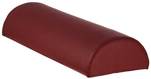 TAOline Knierolle halbrund Gr. M, burgund-rot, Höhe 11 cm, Lagerungshilfe klein, Lagerungsrolle für Massage/Therapie