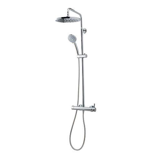 Galindo - Theo City 86450100 - Colonna doccia miscelatore soffione 200 mm con accessori doccia cromato argento cromato