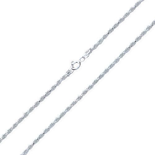 Grundlegende Seil Kette ohne Anhänger 2 MM 50 Gauge Stark Fur Damen Aus Sterling Silber Zoll 16