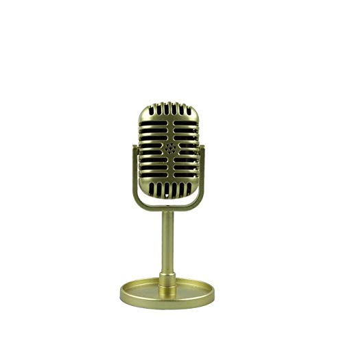 JVCAN Klassieke Retro Microfoon, Prop Vintage Style Mic, Universele Stand Compatibel Live Performance Karaoke Studio Opname Prop