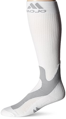 Mojo Compression Socks 20-30 mmHg Graduated Compression Stockings - Unisex, White, XL