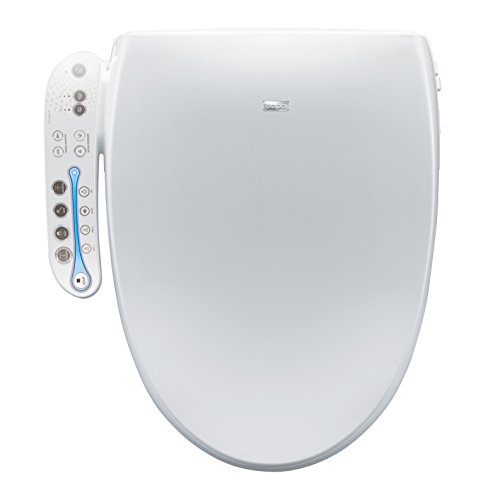 BioBidet A7 Aura Elongated Bidet Toilet Seat | White | Adjustable...
