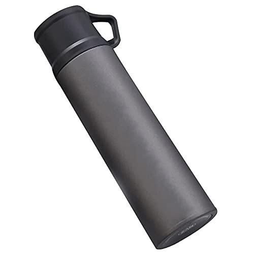 TTSHOP Botella de Agua, Botellas de Bebida, Botella de Agua de Acero Inoxidable 304 con Aislamiento al vacío, Taza para Beber de Oficina Escolar de Doble Capa