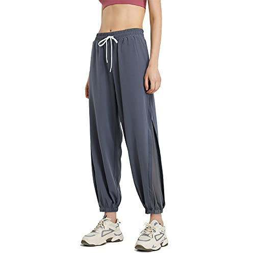 MLLM Leggings Fitness Estiramiento Yoga Pilates,Llevando Pantalones de Yoga Sueltos, Pantalones de Baile de Paquete ultrafinos-Azul Gris_M,Mujer Feeling Leggings Deportivas